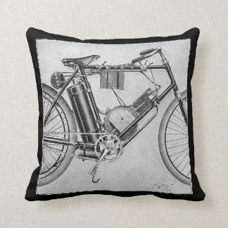Bouilly Motorcycle, 1895 Throw Pillow