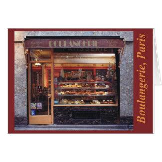 boulangerie Paris Card