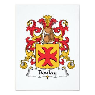 Boulay Family Crest Custom Invites