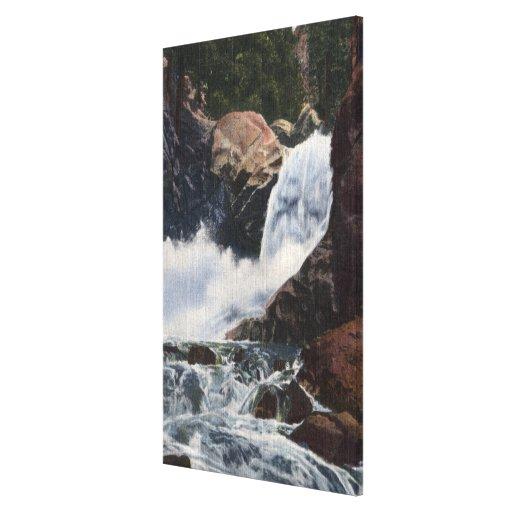 Boulder cae en el barranco de Boulder, opinión de  Lona Estirada Galerías