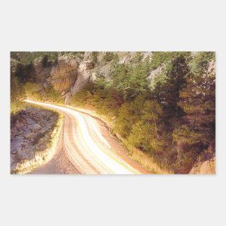 Boulder_Canyon_Beams_Light.jpg Rectangle Sticker