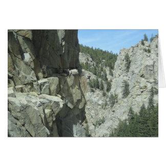 Boulder Canyon Colorado Mountain Photo Card