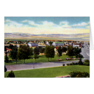 Boulder City Nevada Aerial View of Town Card