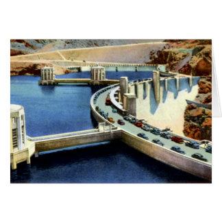 Boulder City Nevada Road Across Hoover Dam Card