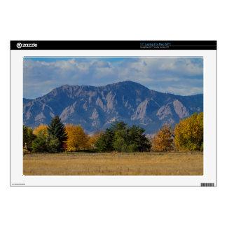 Boulder Colorado Autumn Flatiron Afternoon Decals For Laptops
