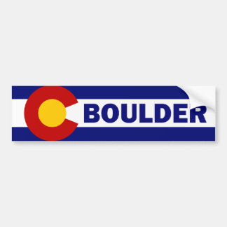 Boulder, Colorado Bumper Sticker