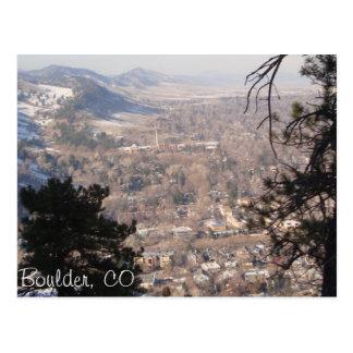 Boulder, Colorado desde arriba Postal
