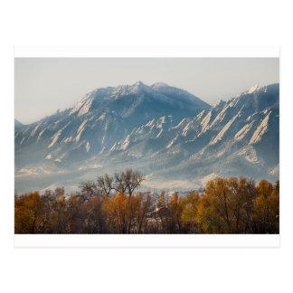 Boulder Colorado Flatirons Country Fall View Postcard