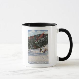 Boulder, Colorado - Flatirons in Winter Mug