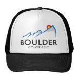 Boulder Colorado Flatirons Logo on Light Apparel Trucker Hat