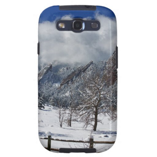 Boulder Colorado Flatirons Snowy Landscape View Samsung Galaxy SIII Case