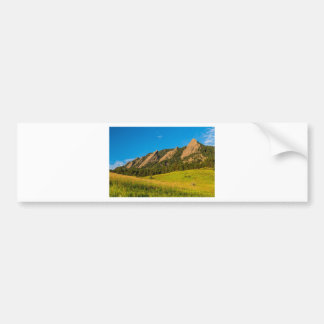 Boulder Colorado Flatirons Sunrise Golden Light Bumper Sticker