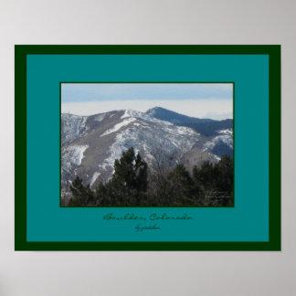 Boulder, Colorado Front Range Poster