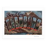 Boulder, Colorado - Large Letter Scenes Postcard