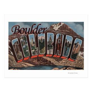 Boulder Colorado - Large Letter Scenes Post Card