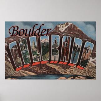 Boulder, Colorado - Large Letter Scenes Poster