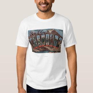 Boulder, Colorado - Large Letter Scenes T-Shirt