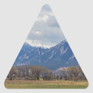 Boulder Colorado Prairie Dog View Triangle Sticker