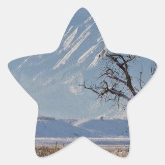 Boulder Colorado Snowy Front Range View.jpg Star Sticker
