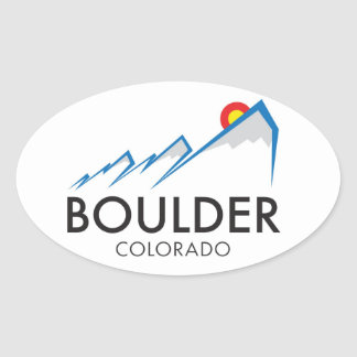 Boulder Colorado Sticker - Oval