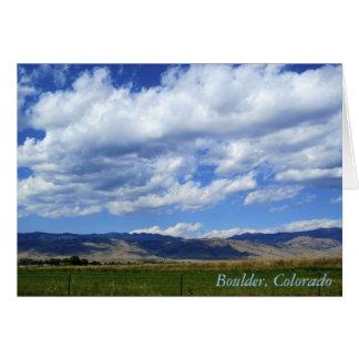 Boulder, Colorado Tarjeta Pequeña