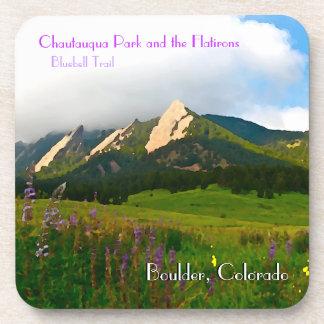 Boulder Colorado Vintage Style Coaster