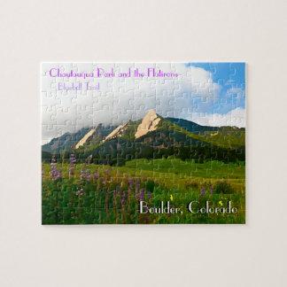 Boulder, Colorado Vintage Style Puzzle