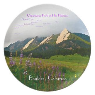 Boulder, Colorado Vintage Style Special Edition Melamine Plate