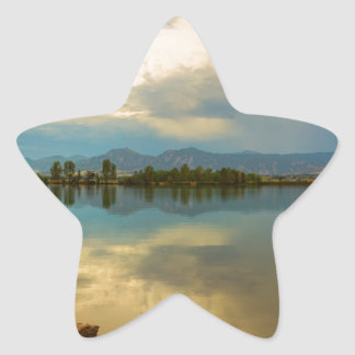 Boulder County Colorado Calm Before The Storm Star Sticker