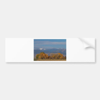 Boulder County Colorado Continental Divide Autumn Car Bumper Sticker