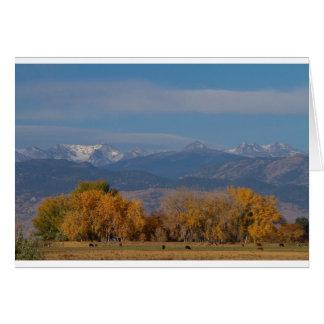 Boulder County Colorado Continental Divide Autumn Greeting Card