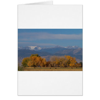 Boulder County Colorado Continental Divide Autumn Greeting Cards