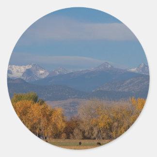 Boulder County Colorado Continental Divide Autumn Classic Round Sticker