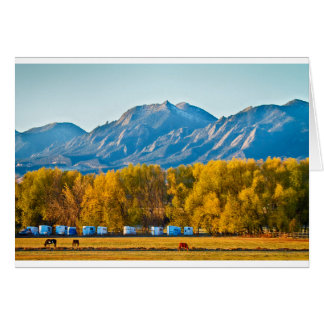 Boulder County Colorado Flatirons Autumn View.jpg Card