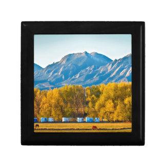 Boulder County Colorado Flatirons Autumn View.jpg Gift Boxes