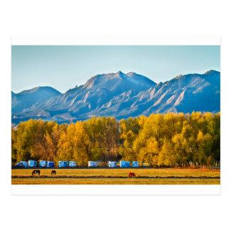 Boulder County Colorado Flatirons Autumn View.jpg Postcard