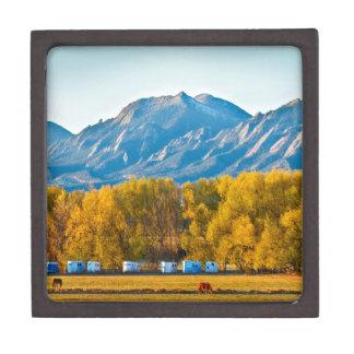 Boulder County Colorado Flatirons Autumn View.jpg Premium Trinket Box