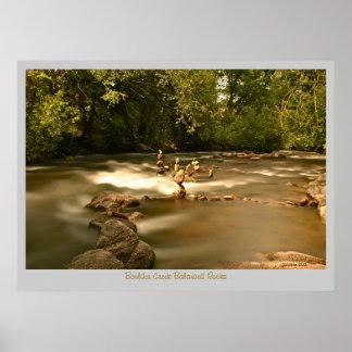 Boulder Creek - Balanced Rocks Poster