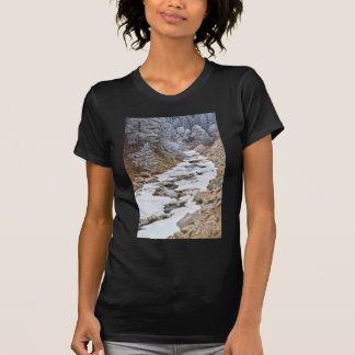 Boulder Creek Frosted Snowy Portrait View Shirts