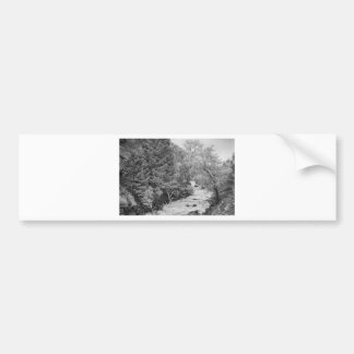 Boulder Creek Winter Wonderland Black and White Bumper Sticker