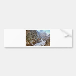 Boulder Creek Winter Wonderland Bumper Sticker