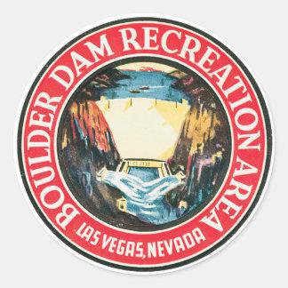 Boulder Dam Classic Round Sticker