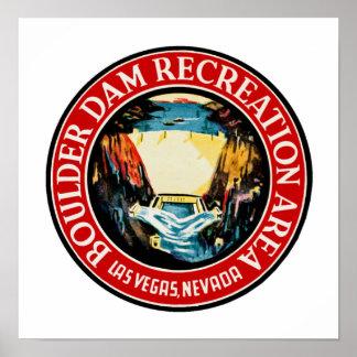 Boulder Dam Recreation Area Poster