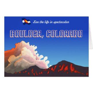 Boulder Flatiron Sunset Card