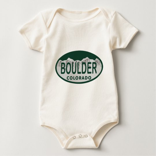 Boulder license oval baby bodysuit