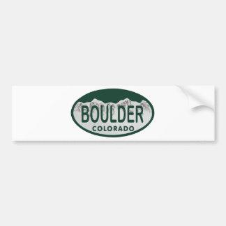 Boulder license oval car bumper sticker