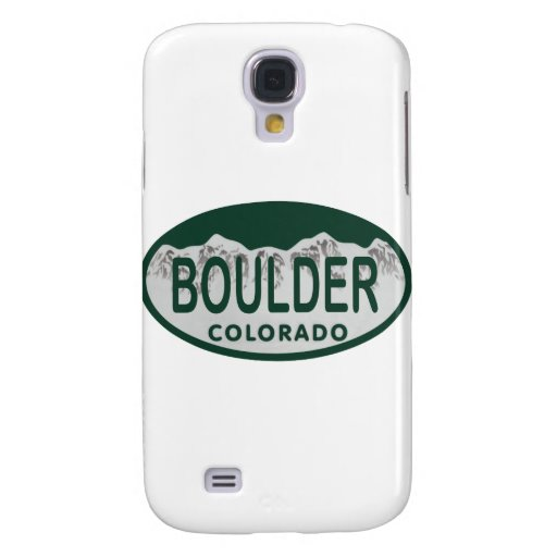 Boulder license oval galaxy s4 cases
