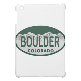 Boulder license oval iPad mini cases
