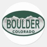 Boulder license oval sticker