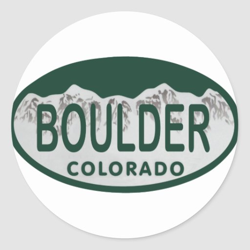 Boulder license oval sticker